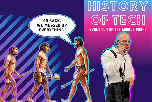 image representing The History of Tech   Evolution of Mobile Phones